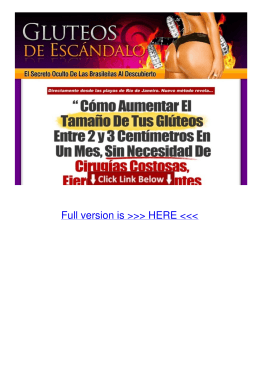 PDF Gluteos De Escandalo | Como Aumentar Los Gluteos
