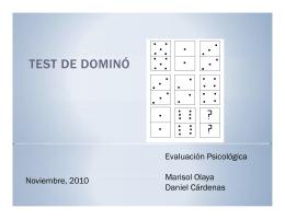 TEST DE DOMINÓ - Psicologia en la Iberoamericana Blog