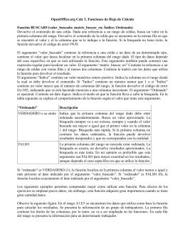 Función BUSCARV(valor_buscado