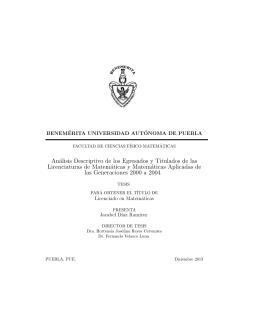 Análisis Descriptivo de los Alumnos Egresados y Titulados de las
