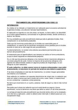 TRATAMIENTO DEL HIPERTIROIDISMO CON YODO 131