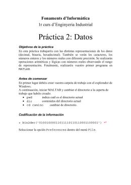 Práctica 2: Datos