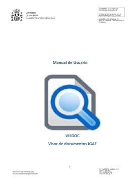 Manual de utilización del Visor de documentos electrónicos VISDOC.