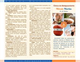Método Martins - CLINICA DE ADELGAZAMIENTO Dr. José R
