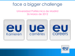 Oral presentation - Universidad Politécnica de Madrid