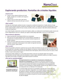 Explorando productos: Pantallas de cristales líquidos