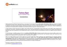 Dossier Fatima Spar + prensa