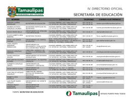 SECRETARÍA DE EDUCACIÓN - Información Pública del Estado de