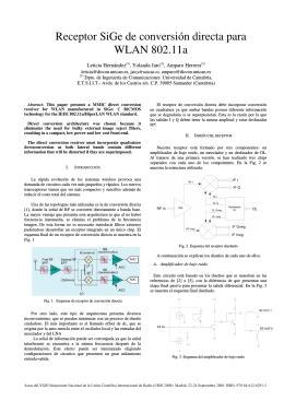 Receptor SiGe de conversión directa para WLAN 802.11a
