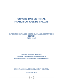 Informe de Gestión - Universidad Distrital Francisco Jose de Caldas