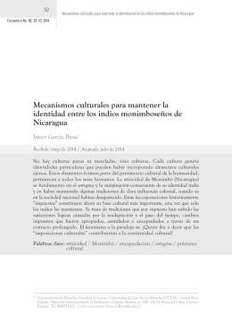 Mecanismos culturales para mantener la identidad entre los indios
