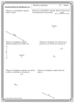 Fichas de problemas de polígonos regulares.