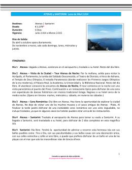 ATENAS y SANTORINI Luna de Miel 2.014