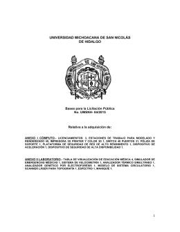 Bases - Universidad Michoacana de San Nicolás de Hidalgo