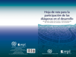 Hoja de ruta para la participación de las diásporas en