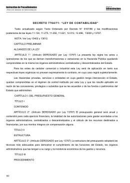 """160 DECRETO 7764/71: """"LEY DE CONTABILIDAD"""""""