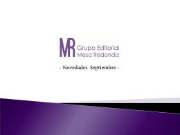 Novedades - Grupo Editorial | Mesa Redonda