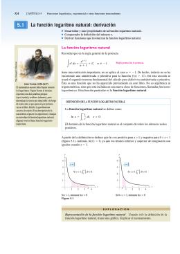 Logaritmo natural y derivación Larson. 344-350