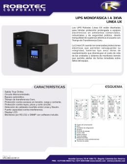 UPS Robotec Línea UX