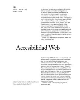 Accesibilidad Web - TRANS: revista de traductología