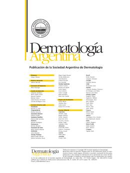 Nº 1 - Sociedad Argentina de Dermatología