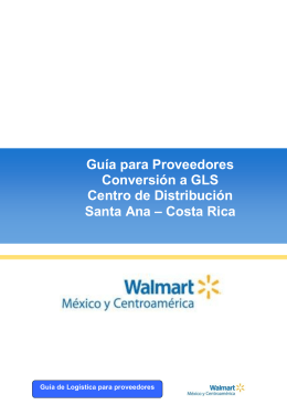 Guía para Proveedores - Walmart México y Centroamérica
