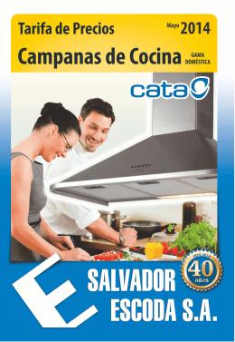Tarifa de Precios - Campanas de Cocina CATA