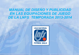 MANUAL DE EQUIPACIONES DEPORTIVAS 2013-2014