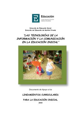 Inclusion de las Tics en la Educación Inicial
