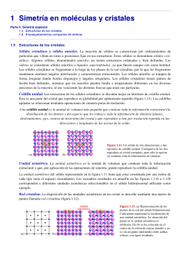 Tema 1. Simetría Molecular y Cristalina.