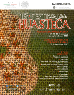 Festival de la Huasteca - Dirección General de Culturas Populares