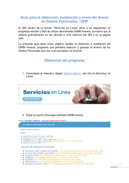 Guía para la obtención, instalación y envío del Anexo de Gastos