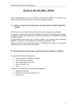 Manual de usuario DIMM - Descargas SRI