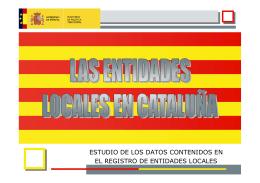 las entidades locales en cataluña - Ministerio de Administraciones
