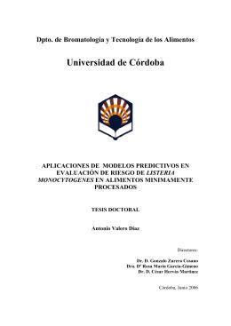 listeria monocytogenes - Helvia :: Repositorio Institucional de la