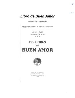 El Libro de Buen Amor - Biblioteca Virtual Miguel de