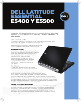 DELL™ LATITUDE™ EssEnTIAL E5400 y E5500