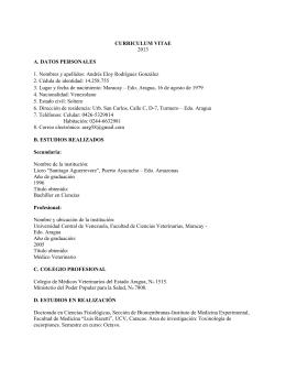 CURRICULUM VITAE - Saber UCV