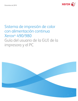 Sistema de impresión de color con alimentación continua Xerox