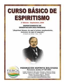 Curso de Espiritismo Básico - Sociedad Espiritista Cubana