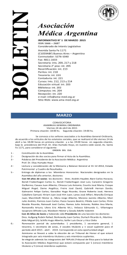 otros cursos y jornadas - Asociación Médica Argentina
