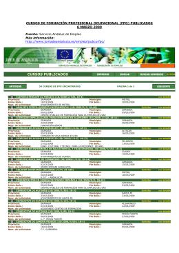 cursos de formación profesional ocupacional (fpo) publicados en