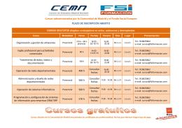 Cursos subvencionados por la Comunidad de Madrid y el
