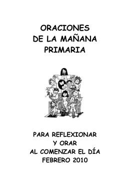 ORACIONES DE LA MAÑANA PRIMARIA