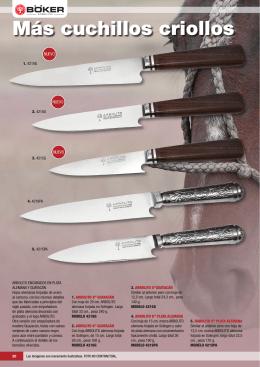 Más cuchillos criollos