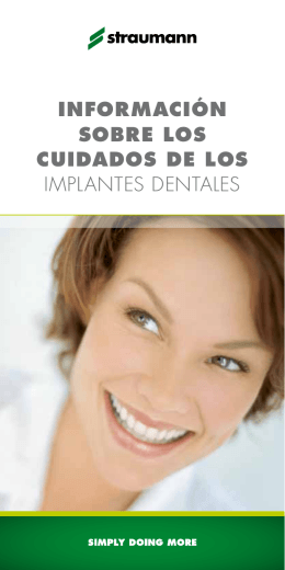 información sobre los cuidados de los implantes dentales