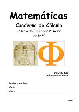4º PRIMARIA. CUADERNO DE CÁLCULO 2008-09