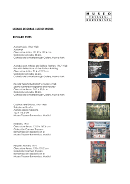 Listado de Obras / List of Works - Museo Thyssen