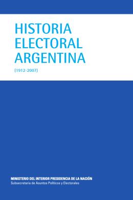 Historia Electoral Argentina (1912 - 2007)