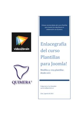 Enlacegrafía del curso Plantillas para Joomla!